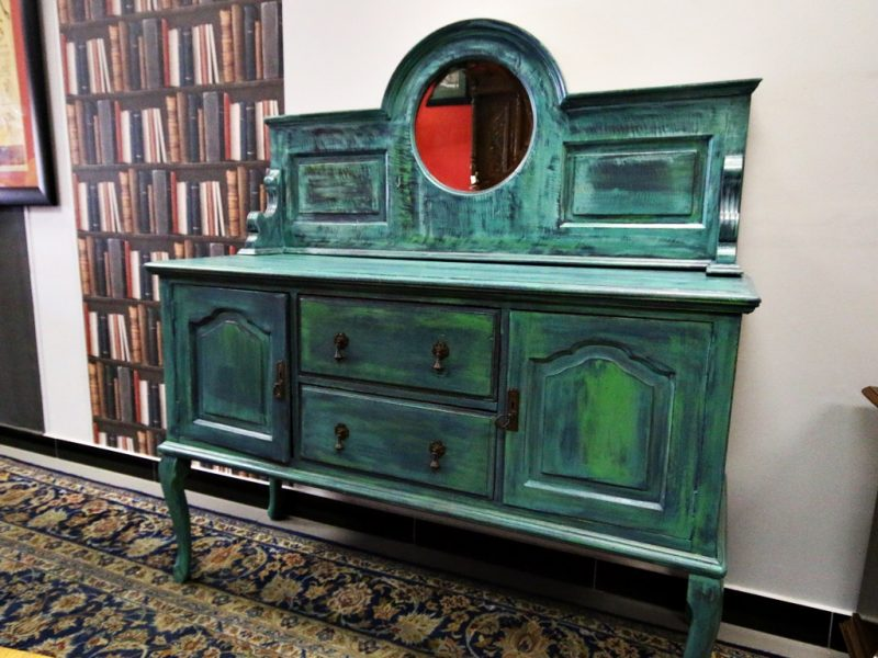 Painted Antique Sideboard