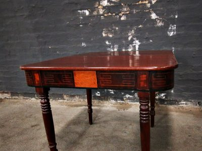 regency mahogany fold over table kings queens antiques buy