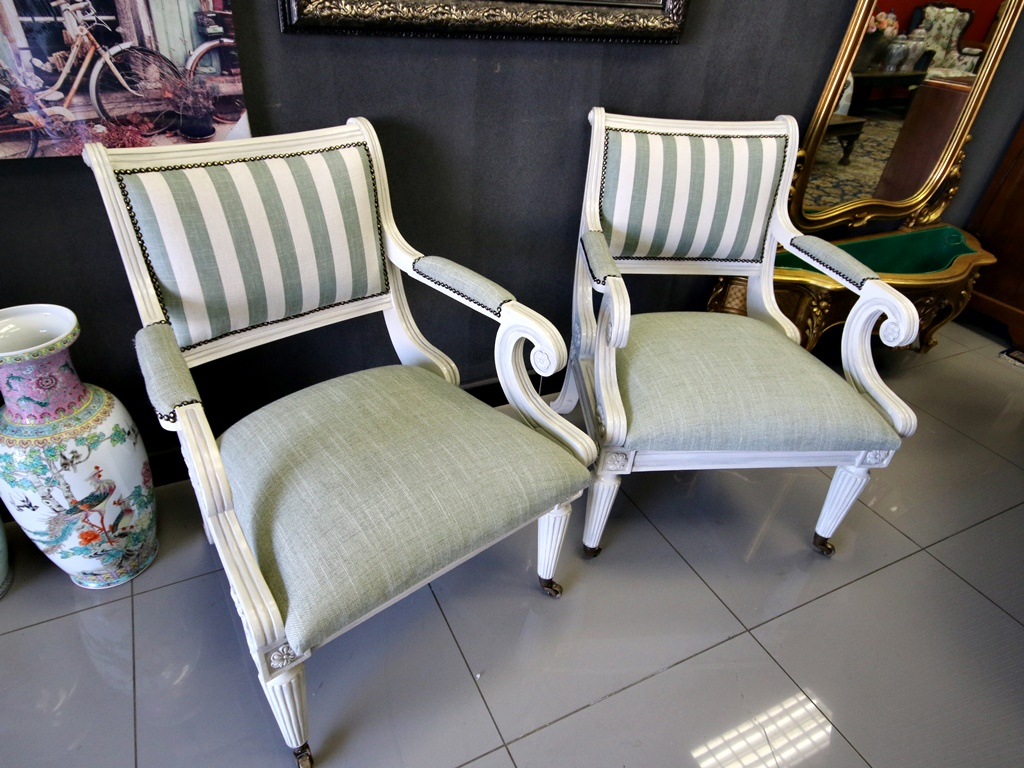 Painted Antique chairs - Painted Antique Chairs - Kings & Queens Antiques - Buy Antiques In
