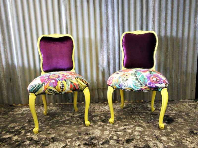 Antique Yellow Dining Chairs