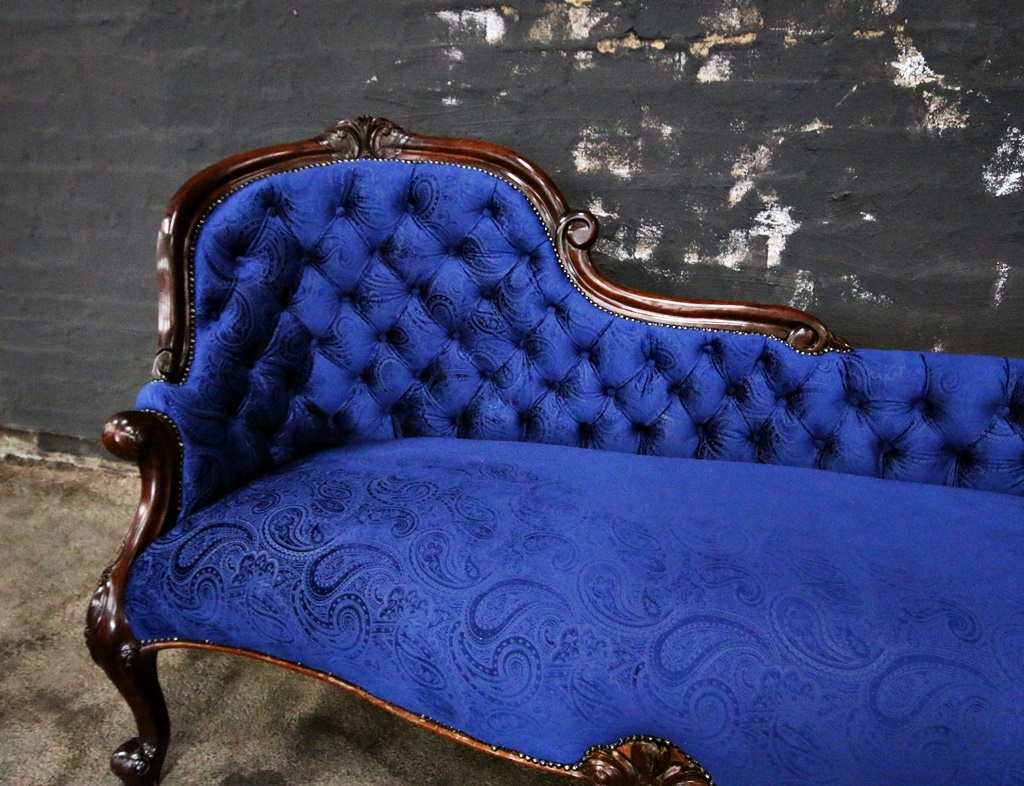 Antique victorian chaise lounge kings queens antiques for Chaise lounge antique victorian