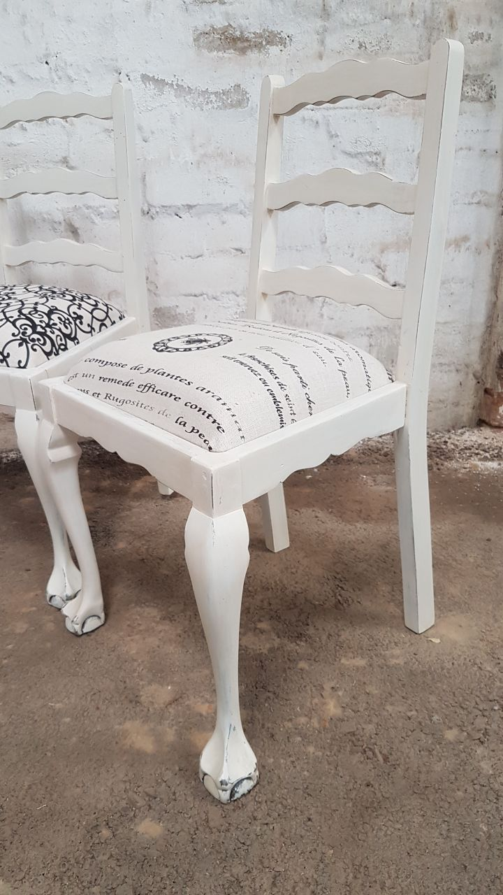 White Painted Ball Amp Claw Ladder Back Chairs Kings