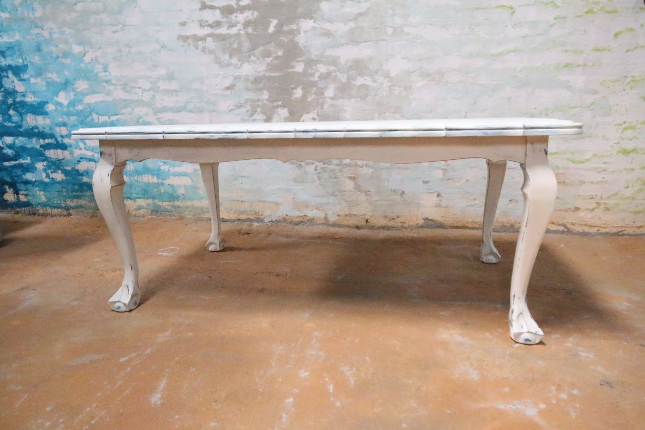 Astounding White Ball Claw Dining Table Kings Queens Antiques Machost Co Dining Chair Design Ideas Machostcouk