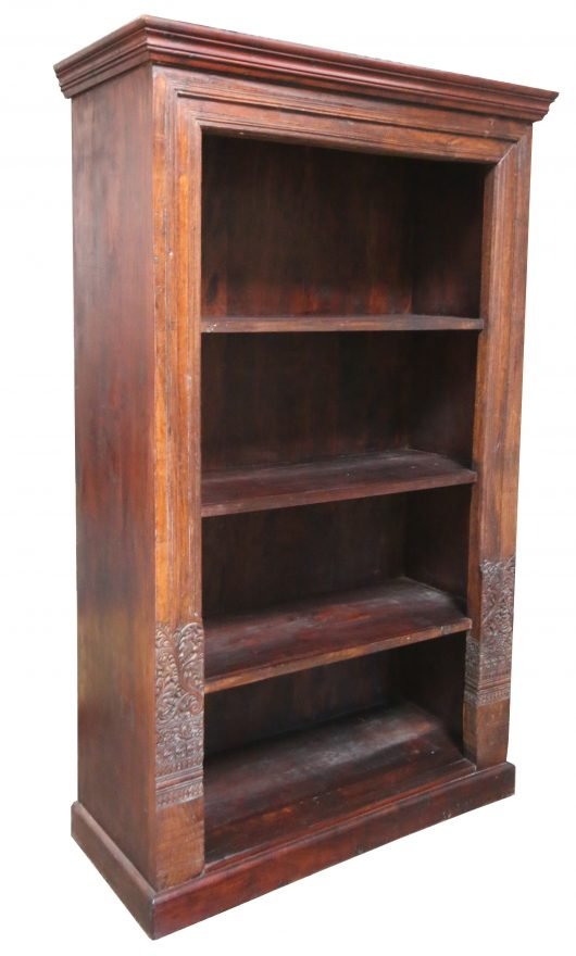 Wooden Bookshelf Carved