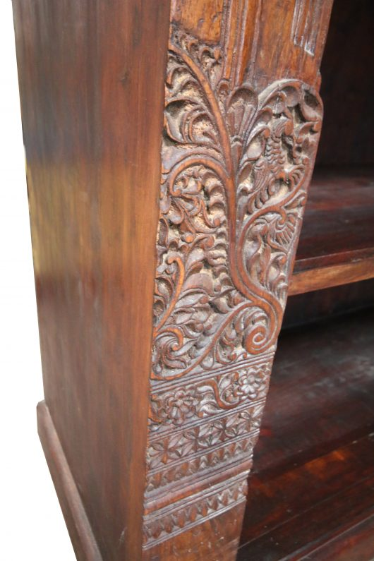 Bookshelf Carved Wood Panel
