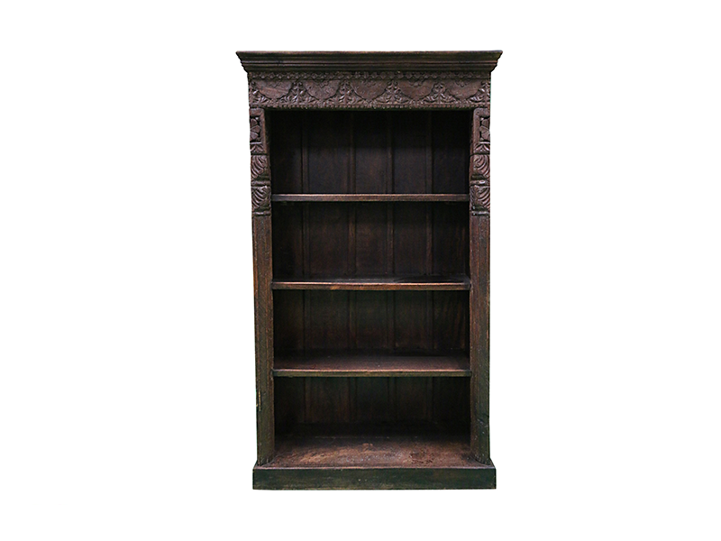 indian carved book-shelf