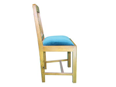 blue chair side view