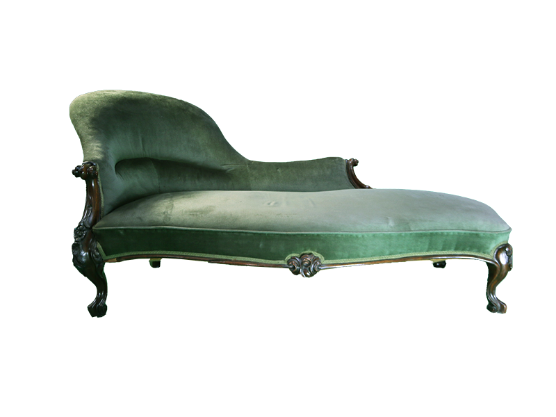 green-chaise