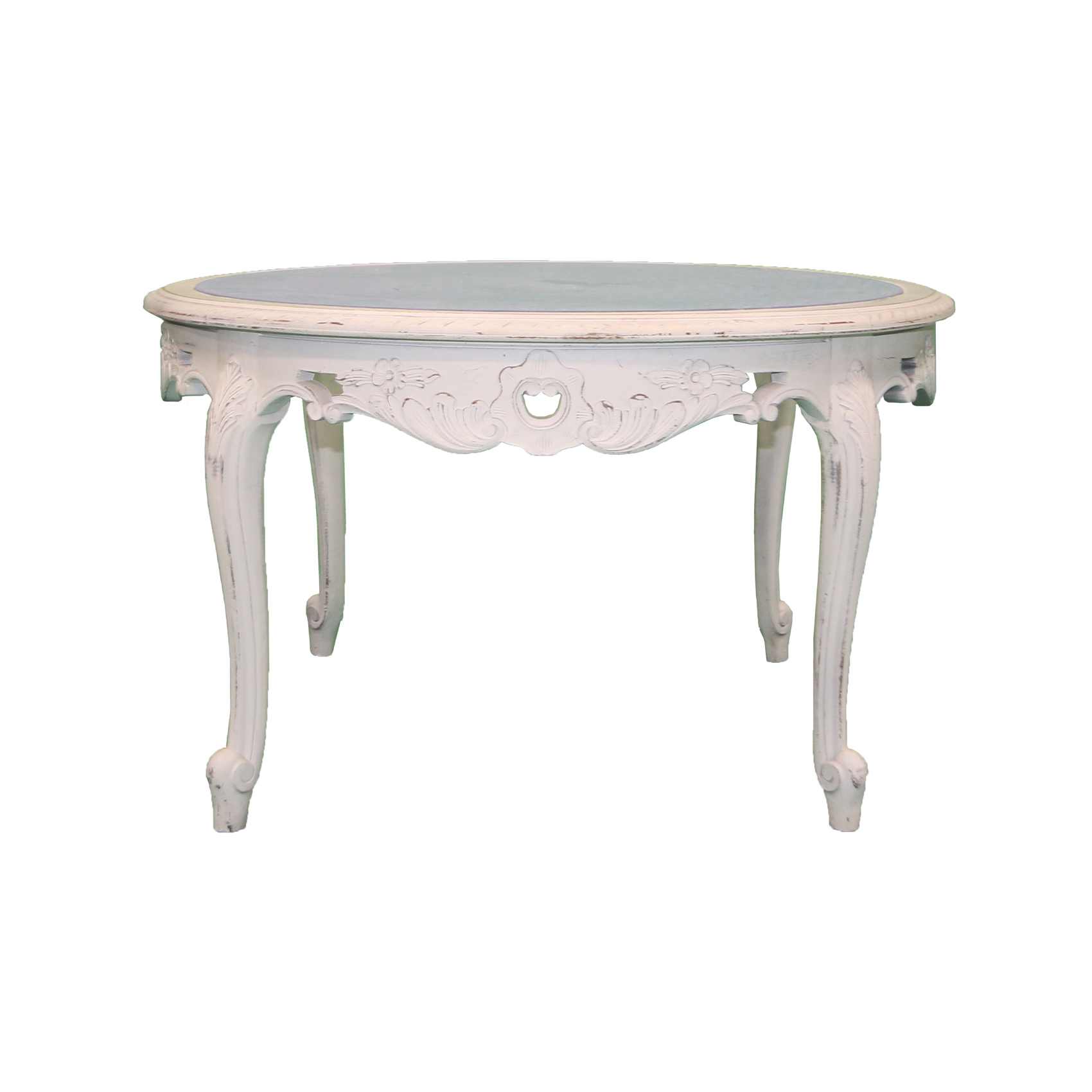 Round Coffee Table With Glass Top Kings Queens Antiques