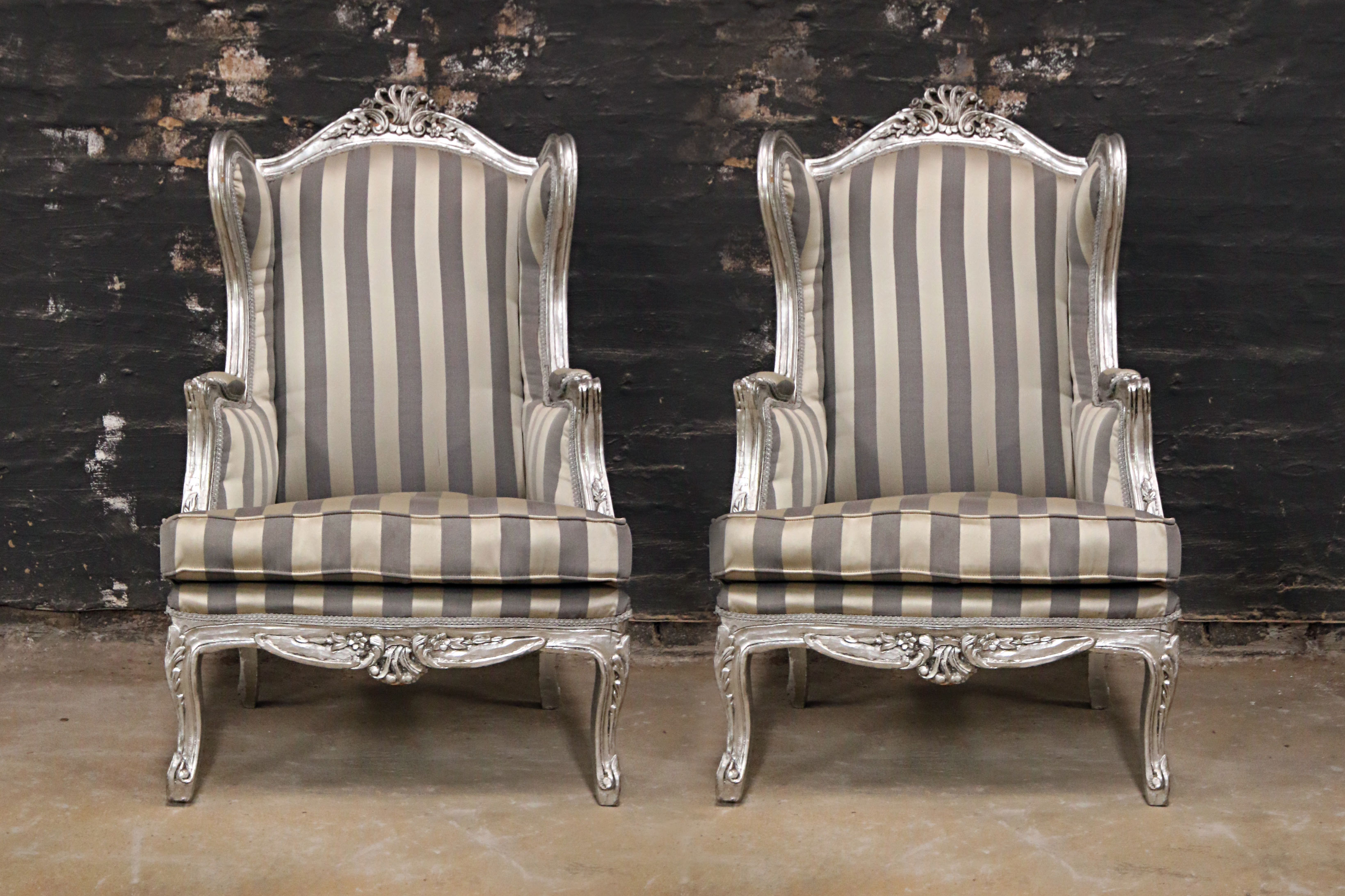 French Style Craved Wingback Kings Amp Queens Antiques